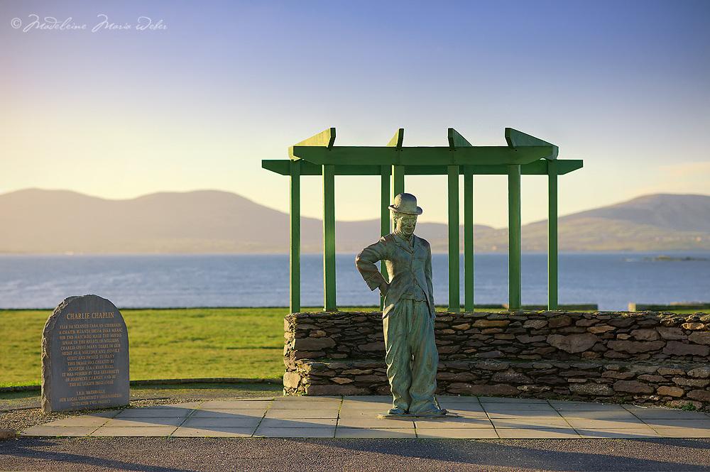Famous Charlie Chaplin Skulpture in waterville, County Kerry, ireland / wv046