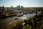 Old Sacramento from the CalSTRS building in West Sacramento.