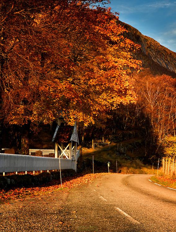 Fall sunset at Ørsdalen.