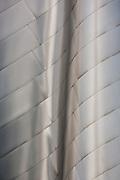 Detail of the texture of the stainless steel panels of Walt Disney Concert Hall, Los Angeles