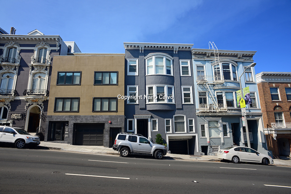Steep street of San Francisco.