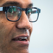 September 17, 2015 - Redmond, Washington, United States: Microsoft CEO Satya Nadella is pictured during an interview at the Microsoft campus. Nadella has been the chief executive officer of Microsoft since February 4, 2014. (Photo by David Ryder)