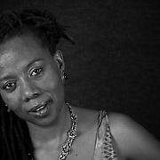 16 January 2012. Braamfontein, Johannesburg, South Africa. Prudence Mabele, 40. Activist, Sangoma.