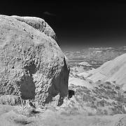 Mormon Rocks - Elevated East View - Infrared Black & White