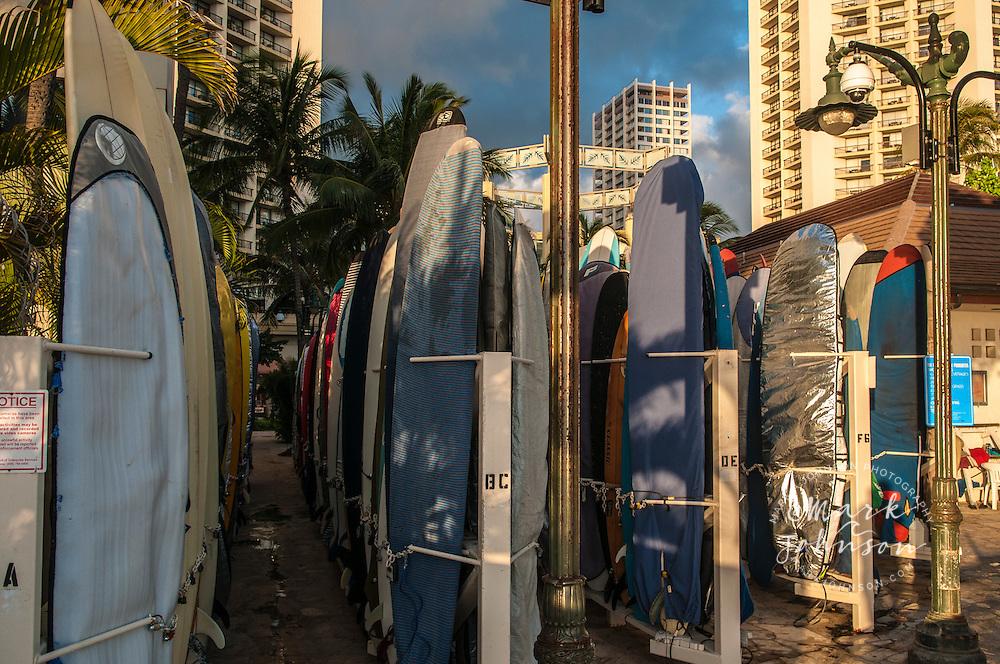 Surfboards, Waikiki, Honolulu, Oahu, Hawaii