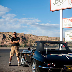George Athens and His Corvette