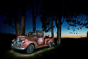 Light-painted truck, painted with a 120 lumen LED flashlight. 30 second exposure.