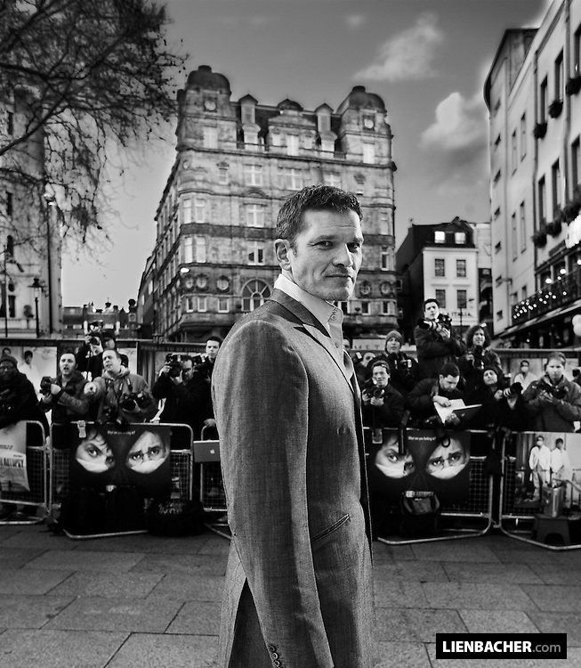 """German actor Götz Otto shot during the world premiere of """"Alien Autopsy"""" in front of the Odeon Cinema in London, 2005"""