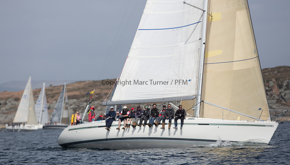 Day two of the Silvers Marine Scottish Series 2015, the largest sailing event in Scotland organised by the  Clyde Cruising Club<br /> Racing on Loch Fyne from 22rd-24th May 2015<br /> <br /> GBR9963 , First By Farr , Ian McNair , CCC, First 45F5.<br /> <br /> <br /> Credit : Marc Turner / CCC<br /> For further information contact<br /> Iain Hurrel<br /> Mobile : 07766 116451<br /> Email : info@marine.blast.com<br /> <br /> For a full list of Silvers Marine Scottish Series sponsors visit http://www.clyde.org/scottish-series/sponsors/