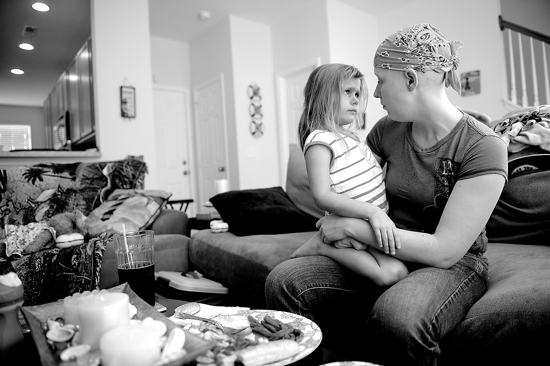 Keri talks to her daughter, Kassidy, after she threw a fit about not wanting to eat dinner at their home in Ladson, South Carolina. — © /
