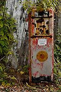Old rusted gas pump at Zimmermann's Farm