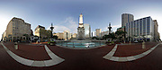 Panoramic of Monument Circle in Indianapolis, Wednesday July 03 2013. Photo by AJ Mast