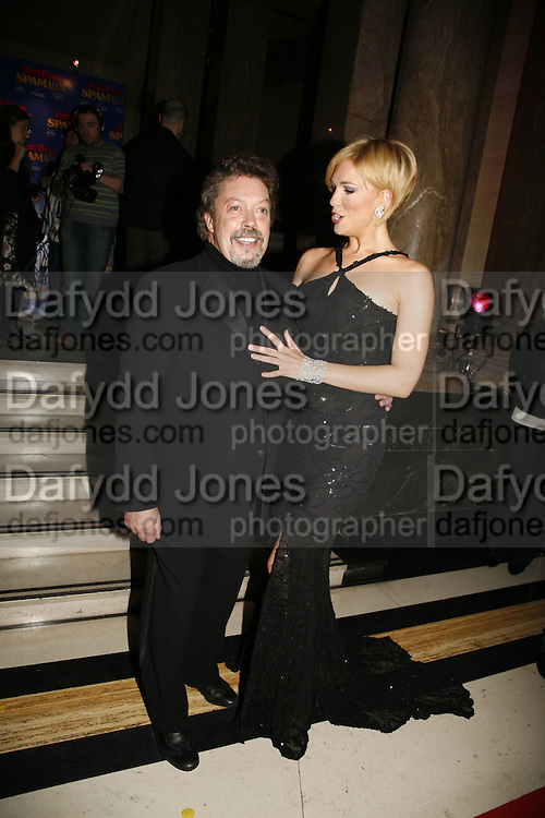 Hannah Waddingham and Tim Curry, Opening of Spamalot at the Night Palace Theatre and afterwards at Freemasons Hall Gt. Queen St.  London. 17 October 2006. -DO NOT ARCHIVE-© Copyright Photograph by Dafydd Jones 66 Stockwell Park Rd. London SW9 0DA Tel 020 7733 0108 www.dafjones.com