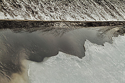 From the top of an icy dam in Winfield Park, New Jersey.