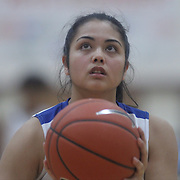 Caesar Rodney Alexis Reid (5) attempts a free throw during a Diamond State Classic game Wed. Dec. 28, 2016 at Saint Elizabeth's High School in Wilmington.