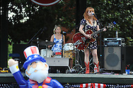 Gina Sexton of Maybelle's Lovers plays during 4th of July festivities in the Grove in Oxford, Miss. on Thursday, July 4, 2013.