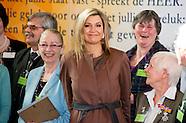 Koningin Maxima brengt een bezoek aan SchuldHulpMaatje Nederland, een landelijke
