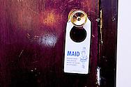 Maid Sign, Vintage Motel Room, Point Motel, Stevens Point, WI.