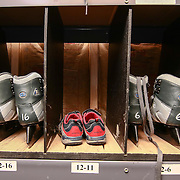 Skates sitting in their cubbies Friday. Nov. 25, 2016, at the Horizon Services Riverfront Rink at ConstitutionYard Beer Garden in Wilmington.