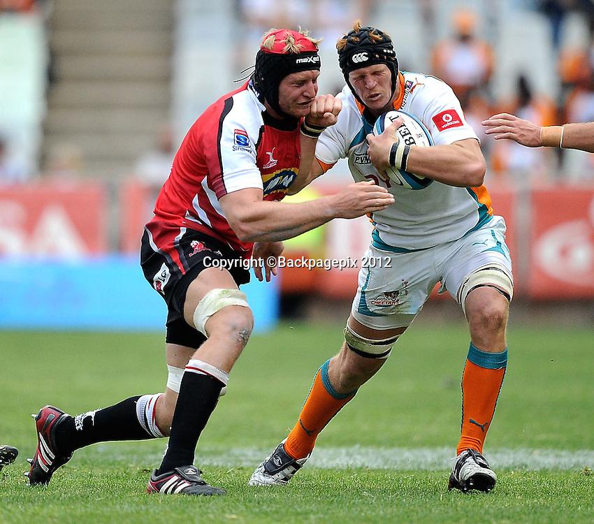 Franco van der Merwe for MTN Lions. Super Rugby - Free State Stadium aka Vodacom Park Stadium, Bloemfontein, South Africa. 7 April 2012.<br /> &copy;DeneseLups/BackpagePix