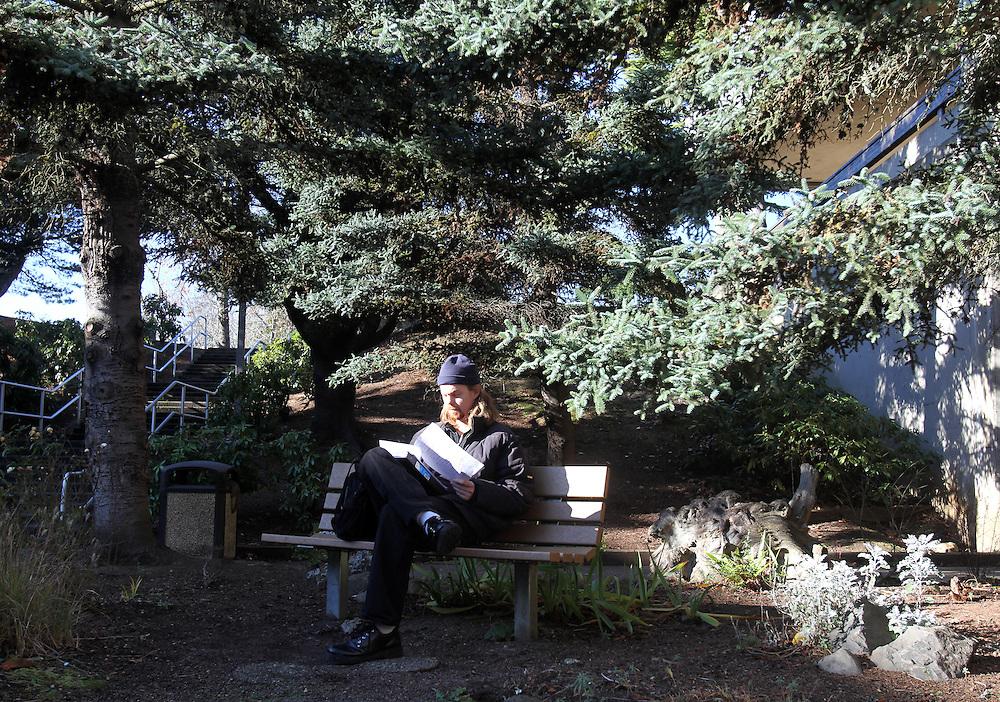 Scott Grabner studies at Mt. Hood Community College in Gresham on Monday, Dec. 12, 2011.