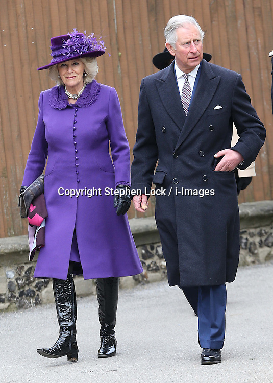 Prince of wales and Duchess of Cornwall arriving for the enthronement of Justin Welby as the Archbishop of Canterbury, at Canterbury Cathedral in Kent,  Thursday, 21st March 2013.  Photo by: Stephen Lock / i-Images