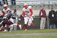 Lafayette High's Devon Thomas (18) runs vs. Forrest County AHS in the MHSAA Class 4A championship game at Mississippi Veterans Memorial Stadium in Jackson, Miss. on Saturday, December 7, 2013. Forrest County AHS won 21-6.