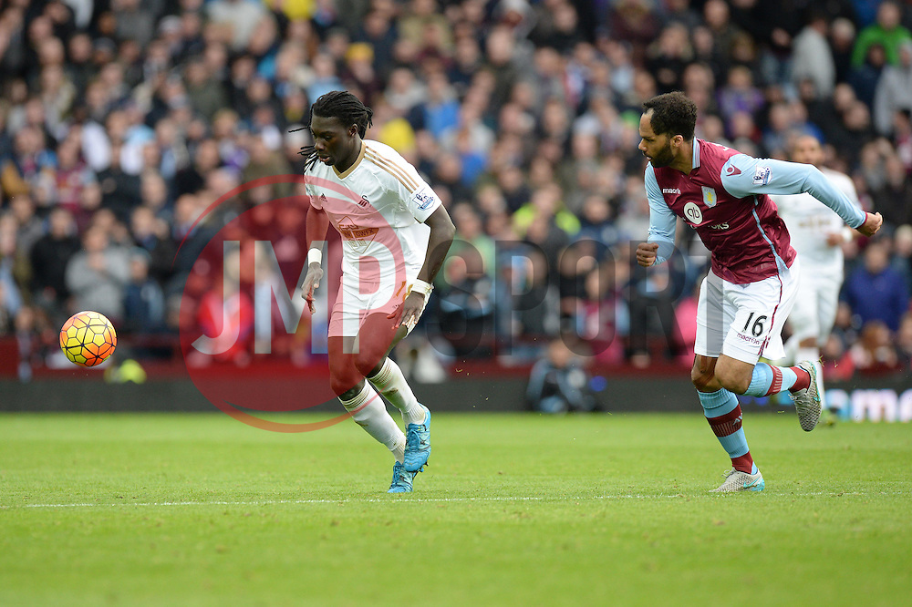 Bafetibis Gomis of Swansea City - Mandatory byline: Alex James/JMP - 07966 386802 - 24/10/2015 - FOOTBALL - Villa Park - Birmingham, England - Aston Villa v Swansea City - Barclays Premier League