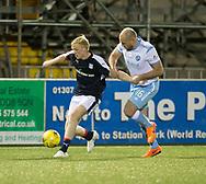Dundee's Ian Smith and Forfar's Iain Campbell - Forfar Athletic v Dundee, Martyn Fotheringham testimonial at Station Park, Forfar.Photo: David Young<br /> <br />  - &copy; David Young - www.davidyoungphoto.co.uk - email: davidyoungphoto@gmail.com