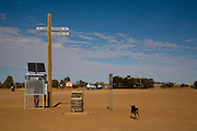 The solar phone booth at William Creek where the camel treks begin. Explore the Outback camel safaris are based in the central Australian deserts near William Creek along the Oodnadatta Track (Lake Eyre, South Australia), and operate from April through to October every year.
