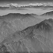View of Mount Everest from the plane as we flew out of Kathmandu, Nepal