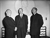 1958 An Taoiseach receiving Cardinal Gilroy