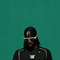 BRADENTON, FL -- January 13, 2010 -- Pittsburg Pirates outfielder Andrew McCutchen walks the field during workouts at the Pirate City Spring Training Headquarters in Bradenton, Fla., on Wednesday, January 13, 2010.  (Chip Litherland for the Chip Litherland for the Pittsburgh Tribune-Review)