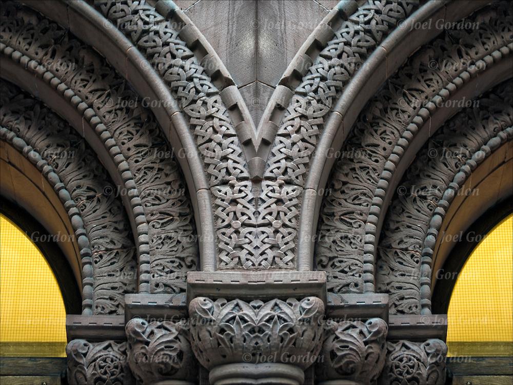 Decorative Architectural Columns : Entrance curved arches joel gordon photography