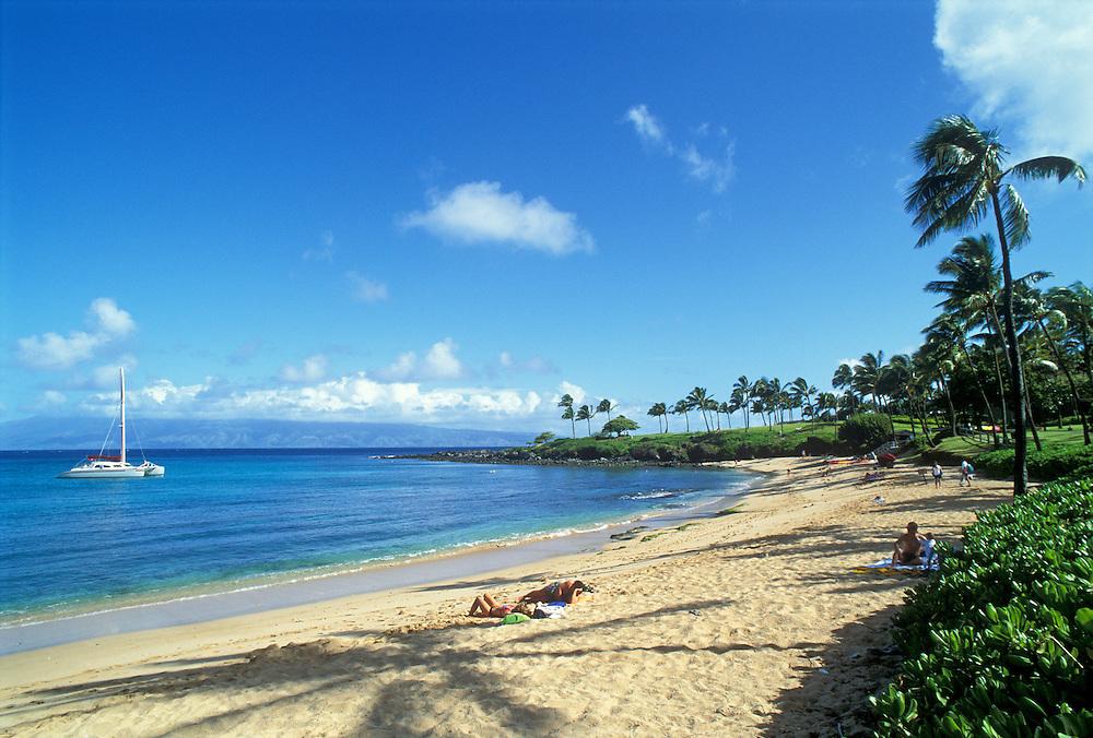 Maui Beaches People Kapalua Beach Maui Hawaii