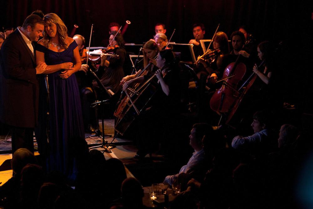 Tenor Joseph Calleja performing with Katie Van Kooten, soprano, at Le Poisson Rouge on October 24, 2011.
