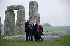 DEC 01 2014 Prime Minister David Cameron visits Stonehenge