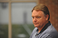 Mississippi football coach Houston Nutt answers questions about incoming players in Oxford, Miss. on Thursday, August 4, 2011. (AP Photo/Oxford Eagle, Bruce Newman)