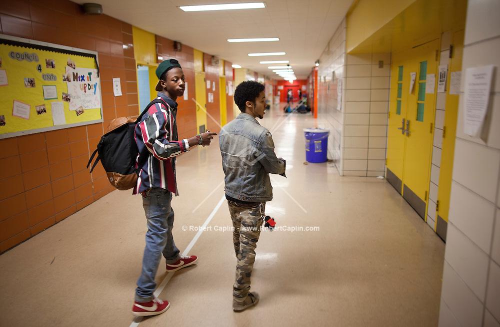 rapper, Joey BadA$$ at his High School, Edward R. Murrow High School ...