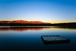 Sunset on Schwatka Lake, Yukon