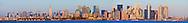 New York City Skyline and Statue of Liberty panorama sunset
