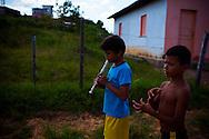 Junco do Maranhao, Brazil, June 26 of 2013:  Bolsa Familia em Junco do Maranhao. Os irmãos Elindomar das Chagas Santos, 12 anos (com a flauta) e Enoque das Chagas Santos, 11 anos. (photo: Caio Guatelli)