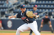 Ole Miss' David Goforth (7) pitches vs. Wright State at Oxford University Stadium in Oxford, Miss. on Saturday, February 19, 2011.