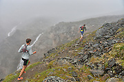 July 26, 2014: 30th Annual Crow Pass Crossing, sponsored by the University of Alaska Anchorage SAA/Milers Booster Club. The race is approximately 24 miles along the Crow Pass Trail from its start near Girdwood to the Eagle River Nature Center at the end of Eagle River Road. The total gradient is 5,959 feet, with a peak elevation gain of 3,888 feet.