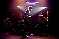 Burnham performs at the Gramercy Theater in New York. ..Photo vy Robert Caplin.