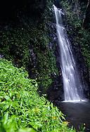 Sao Nicolau (Saint Nicholas) waterfall is the highest in Sao Tome island