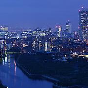 Manchester panoramic city skyline