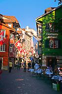 Zurich Sidewalk Cafe, Zurich Switzerland