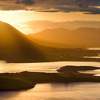 Golden Sunrise over Cahersiveen Ring of kerry ireland /ch235<br /> <br /> Gold Award SWPP