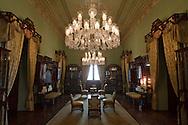 Jade Room at Taj Falaknuma Palace in Hyderabad, India on April 20, 2012<br /> (Photo by Kuni Takahashi)